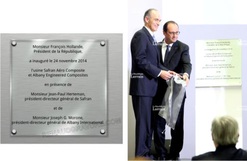 Plaque inauguration Francoise Hollande