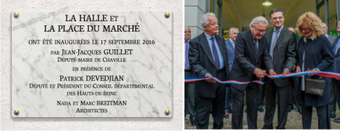 Plaque inauguration Patrick Devedjian