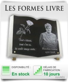 Plaques fun�raire forme livre
