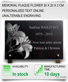 Special offer memorial plaque flowers