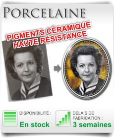 photo porcelaine et médaillon céramique
