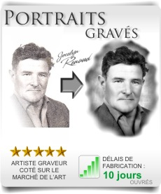 Photo gravée, portraits et photogravure