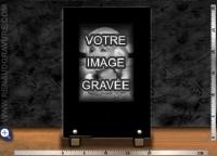 Plaque funéraire + portrait gravé