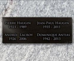 Plaque pour un monument funéraire à coller