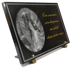 Motif ange avec gravure dorure � l'or et bordure d�corative