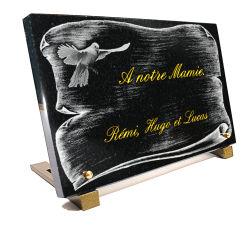 Plaque funeraire parchemin