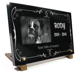 Plaque funéraire pour chien (boxer). texte à personnaliser