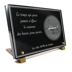Plaque funéraire Aviation, avions