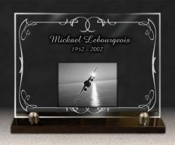 Plaque funeraire socle