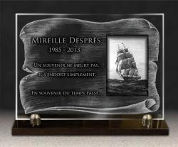 Plaque funéraire Bateaux, voiliers