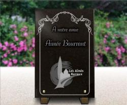 Plaque mortuaire pour cimetière Gravure-personnalisee