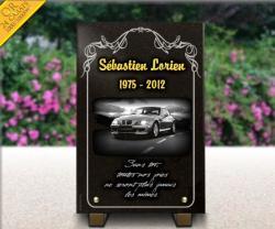 Plaque funeraire voiture