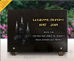 Plaque mortuaire pour cimetière Bougies, cierge