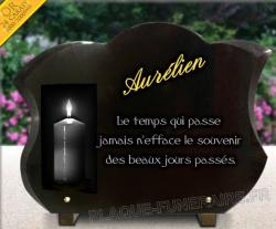 Plaque  Bougies, cierge