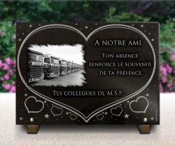 Plaque tombale personnalisée Camions,camionneur,truck,semi,remorque,bus,autocar,routier