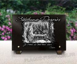Plaque de cimetière avec vraie gravure