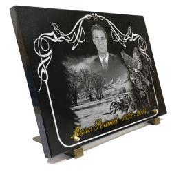 Plaque funéraire portrait