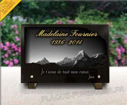 Plaque pour monument funéraire Montagne