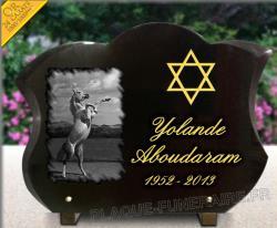 Modèle forme tulipe avec gravure doré , étoile juive et cheval gravé