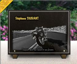 Plaque mortuaire Motos