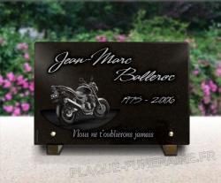 Plaque mortuaire Motos
