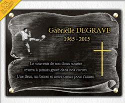 Plaque à personnaliser Ballon-de-football, footbaleur, gardien-de-but, terrain-de-foot