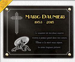 Plaque granit � fixer avec 4 trous et 4 vis, croix, dessin rugby et or 24 carats