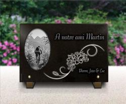 Plaque funeraire -cycliste,cycliste,velo,bicyclette,vtt