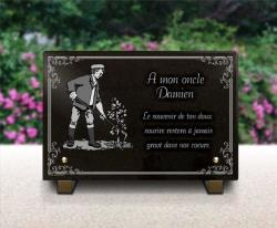 Plaque pour tombe campagne