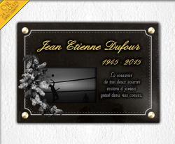 Gravure sur plaque funéraire en granit ou en verre trous
