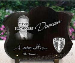 Plaque mortuaire personnalisable Militaire,armee,police,nationale,gendarmerie,gign,psig,bac,garde,securite