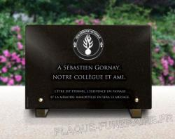 une plaque funeraire personnalis e pour gendarme militaire ou policier. Black Bedroom Furniture Sets. Home Design Ideas