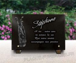 Plaque pour un monument funéraire golf