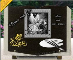 Plaque de tombe papillon - 5
