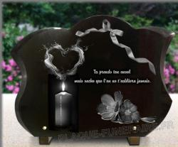 Plaque funéraire coeur