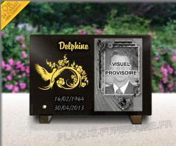 Plaque funeraire  scrapbooking-dorures-portraits