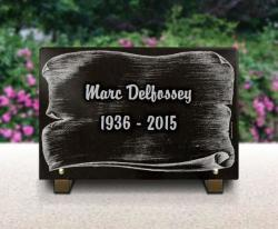 Plaque funèbre pour cimetière  parchemin