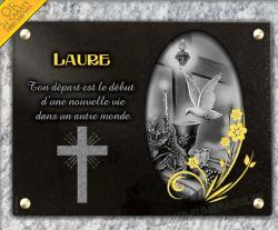 Plaque funeraire bougie