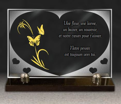 plaque coeur en verre 30x20cm personnaliser. Black Bedroom Furniture Sets. Home Design Ideas