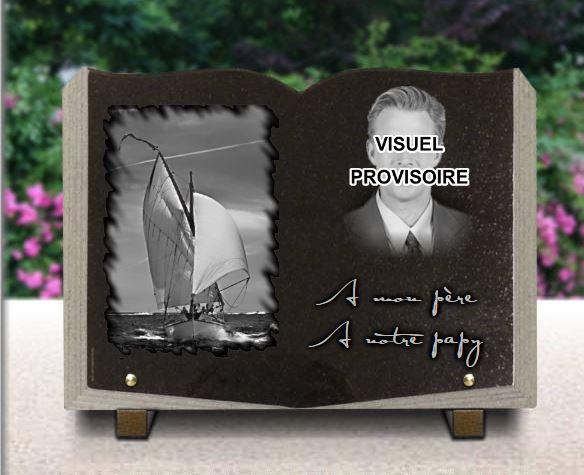 Plaque funéraire personnalisée avec photo gravure