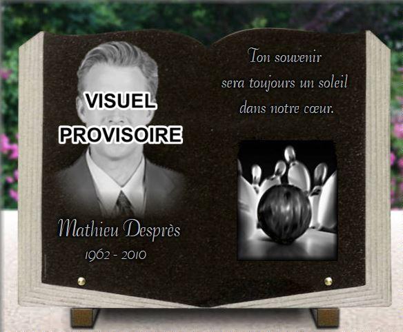 Plaque funéraire photo. livre ouvert  Plaque livre ouvert en granit 40x30cm. 30 x 40 cm.