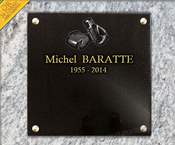 Plaque funéraire granit  Plaque columbarium a fixer sur monument funéraire ou columbarium. 30 x 30 cm.