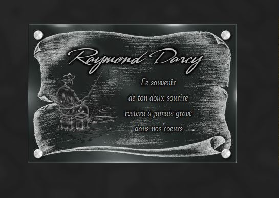 Plaque funéraire verre entretoise en inox massif gravure sur verre . 20 x 30 cm.