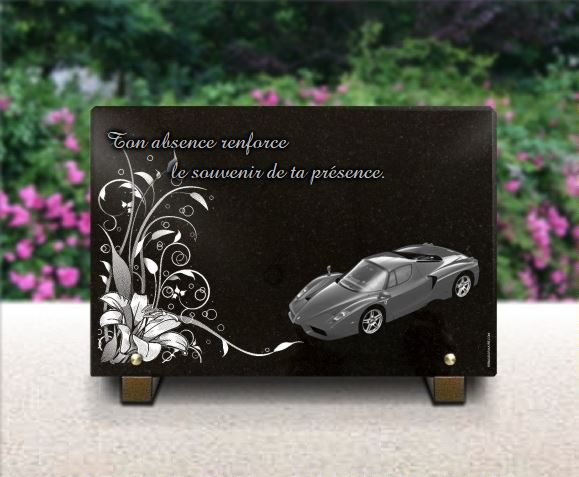 plaque funeraire voitures de luxe ferrari fxx et d cor floral. Black Bedroom Furniture Sets. Home Design Ideas