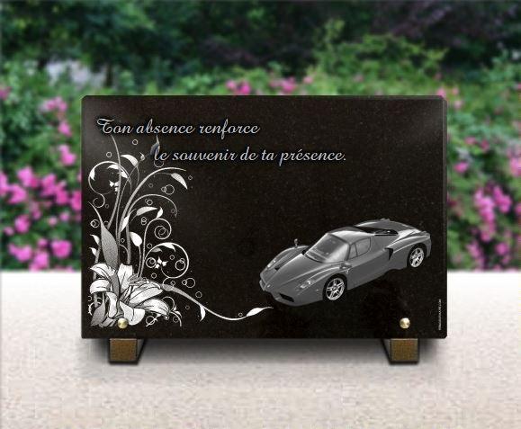 plaque funeraire voitures de luxe ferrari fxx et d cor floral. Black Bedroom Furniture Sets. Home Design Ideas