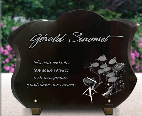 Plaque fun raire originale avec batterie pour batteur musicien - Plaque funeraire originale ...