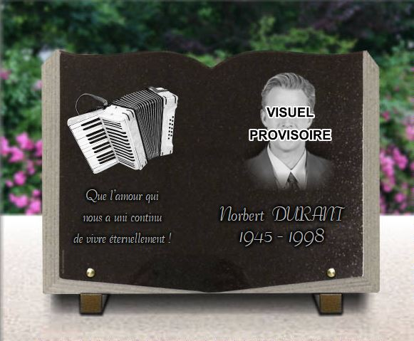 plaque fun raire avec photo et accord on personnaliser. Black Bedroom Furniture Sets. Home Design Ideas