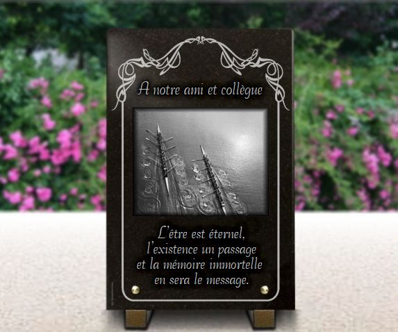 Plaque funeraire ref.1451152116591