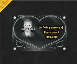 memorial plaque to customize heart
