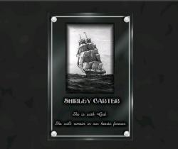 Engraved memorial plaques Boats,sailings